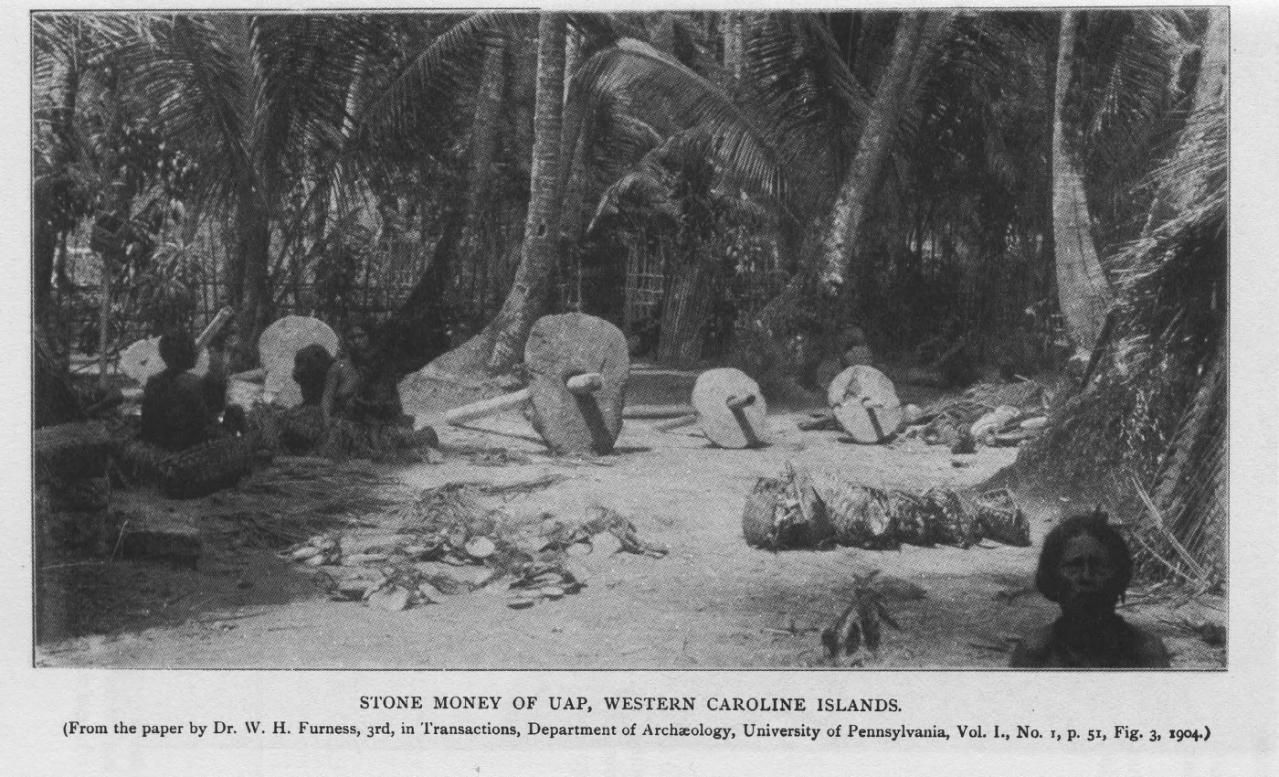 Rai stones with carrying logs, 1903