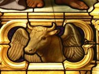 Luke depicted by a winged bul