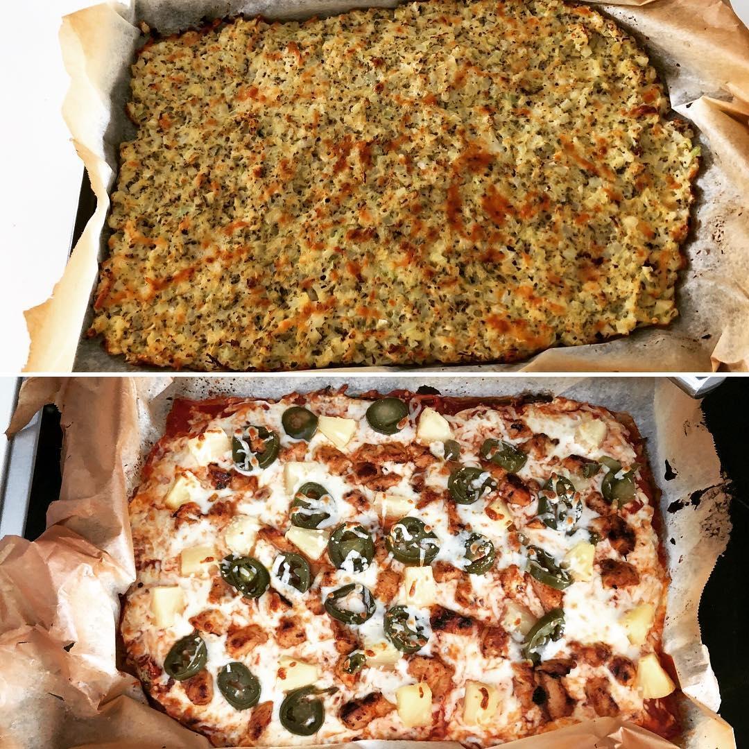 first cauliflower pizza