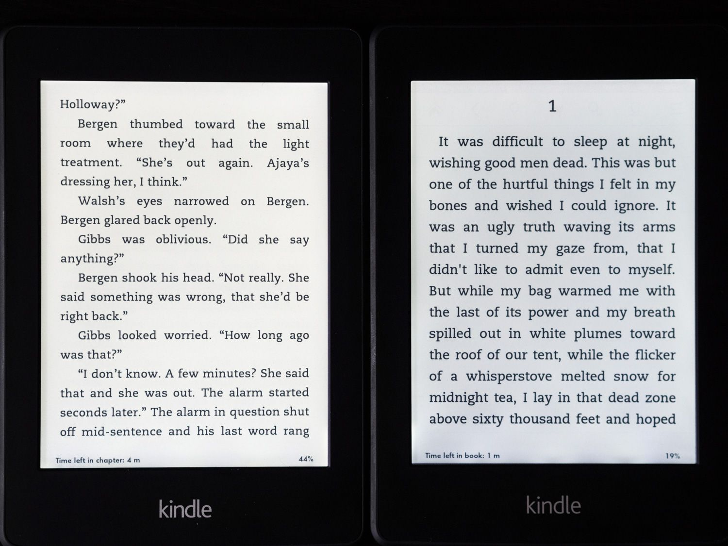 The Paperwhite 2 is on the left in this comparison, with the original beside it.