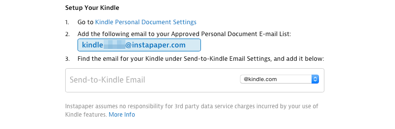 Besides sending individual articles, the digest feature is one of Instapaper's best ideas.