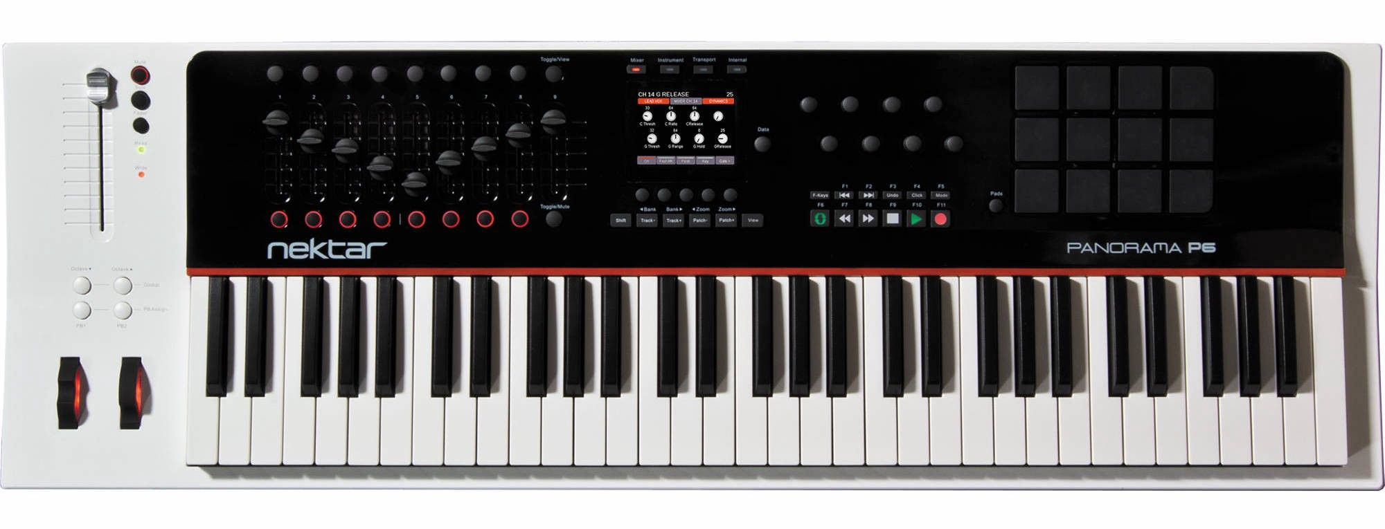 This is the MIDI keyboard I use, in case anyone is curious. It's a Nektar Panorama P6.