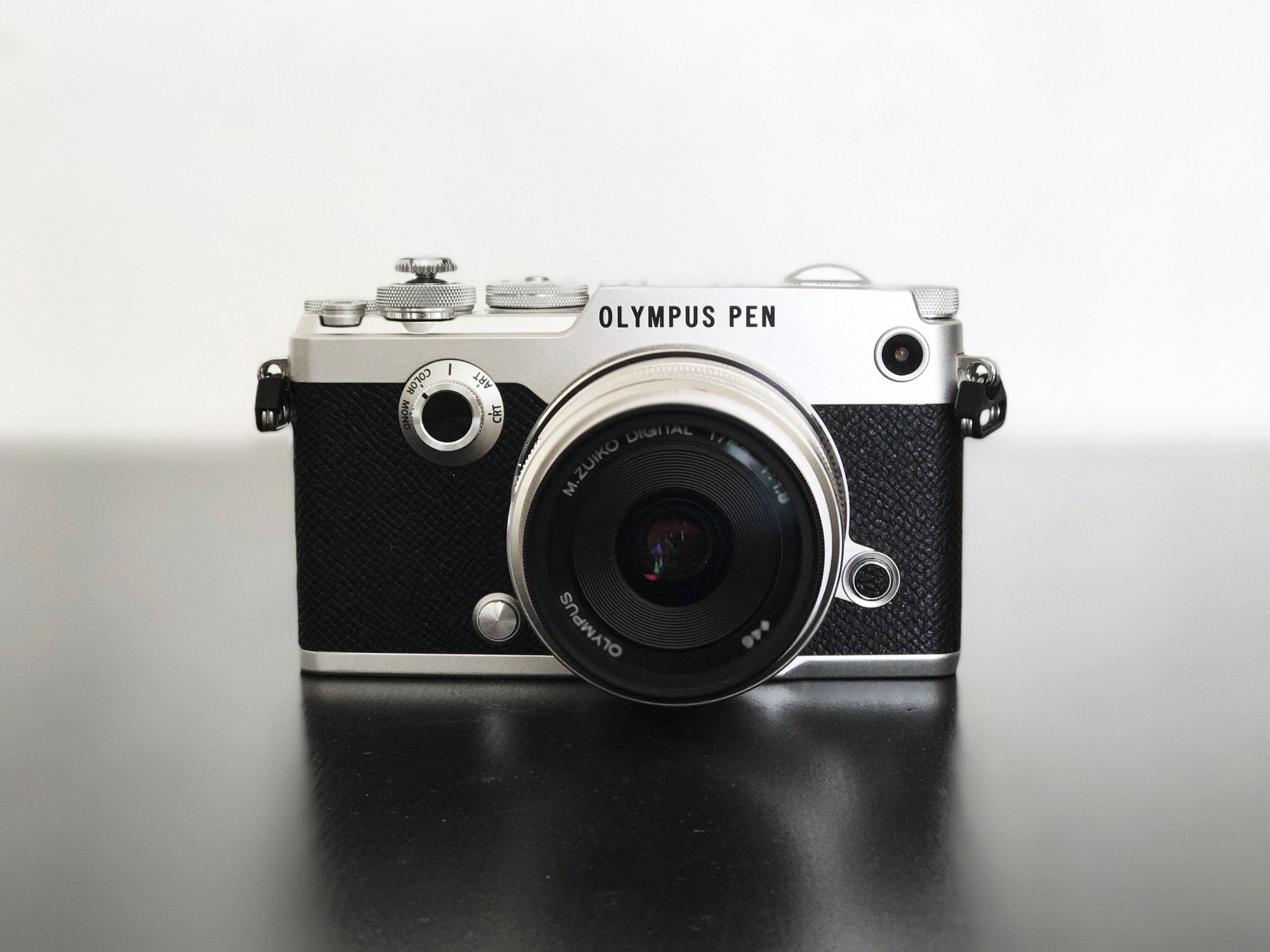 My PEN-F, with 17mm ƒ/1.8 mounted and a soft shutter release button.