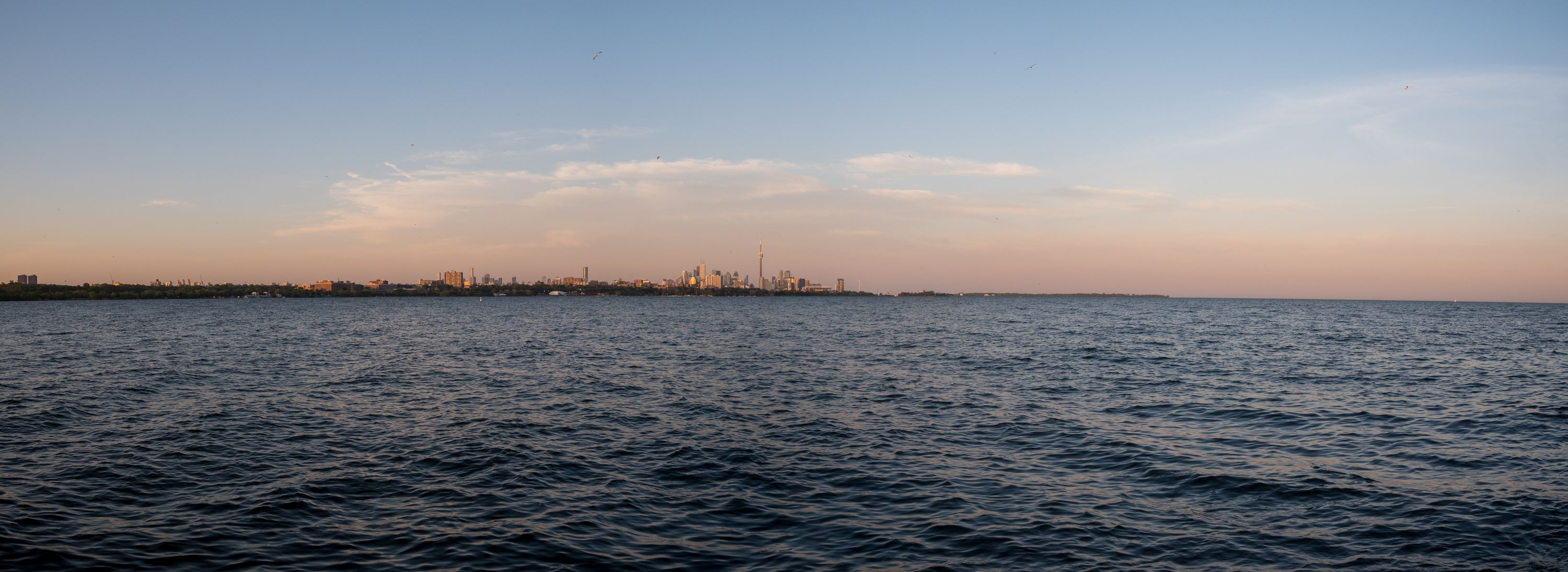 A panorama of the Toronto skyline, stitched from several frames using the 15mm ƒ/1.7.