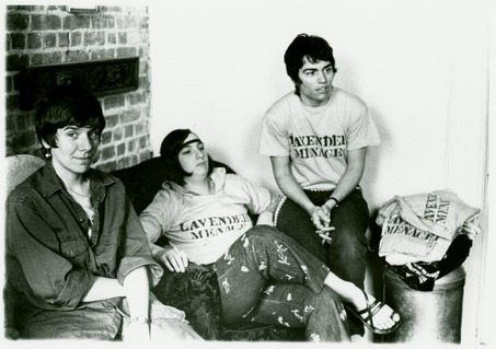 black and white photo of Rita Mae Brown and the lesbian menace