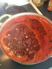 Color photo fo black bean and butternut squash chili