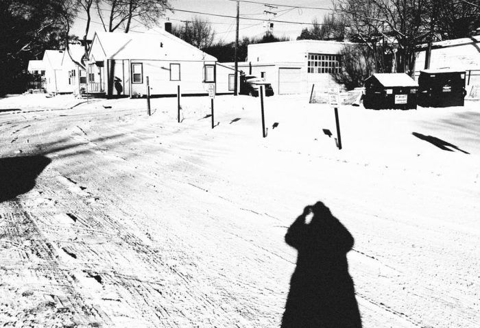 Deep shadow in the snow
