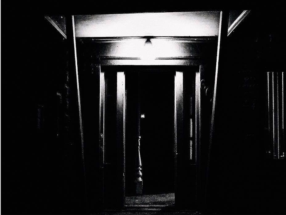 A darkened doorway