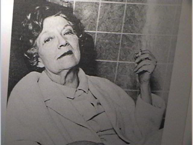 black and white photo of Jean Rhys