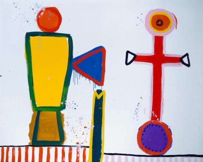 Cross for the White Birds — Alan Davie, 1965.
