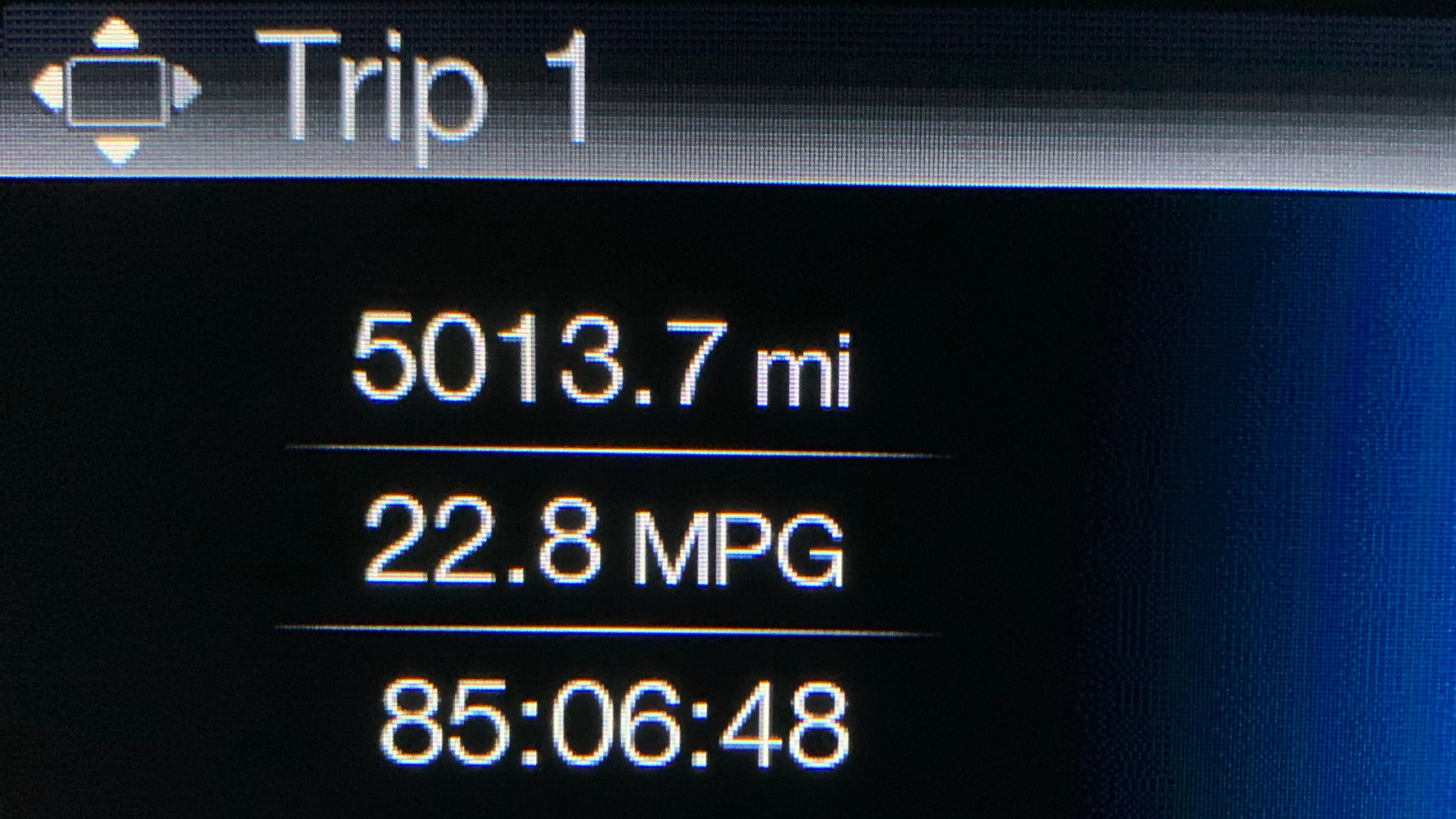 Final Trip Tally. Distance: 5013.7 miles. Time: 85:06:48