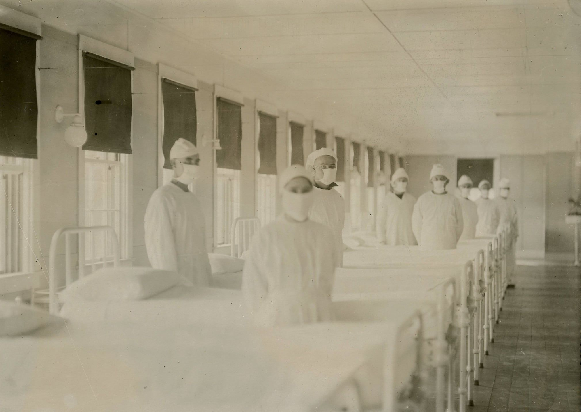 A picture taken during the 1919 flu pandemic.