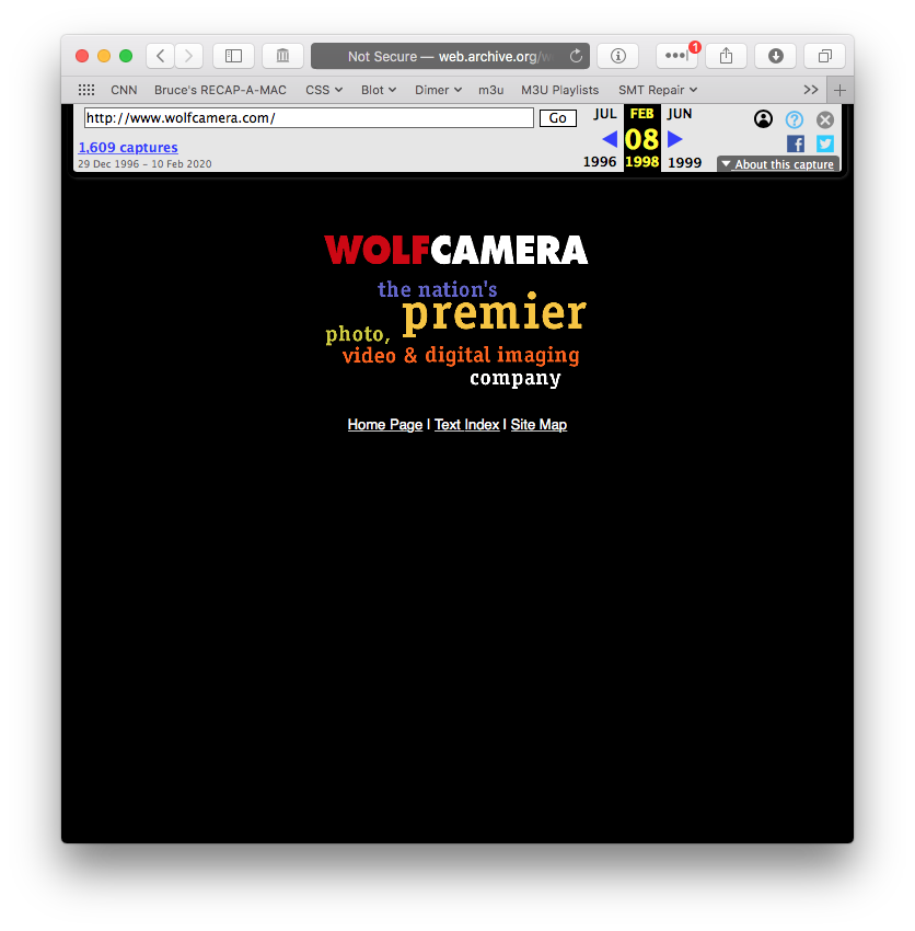 wolfcamera.com on web.archive.org