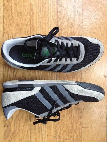 Adidas Marun in black, gray, and white