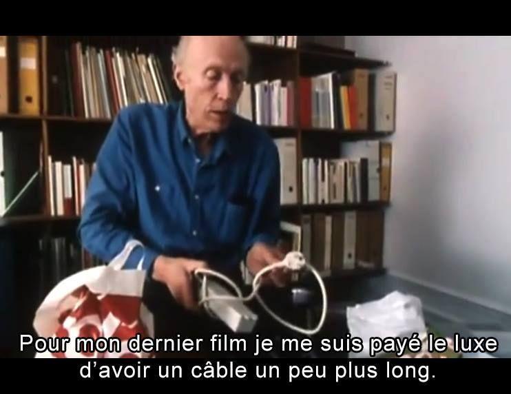 Fotograma de la serie 'Cinéma de notre temps', el capítulo dedicado a Éric Rohmer y emitido en 1994 en la televisión francesa.