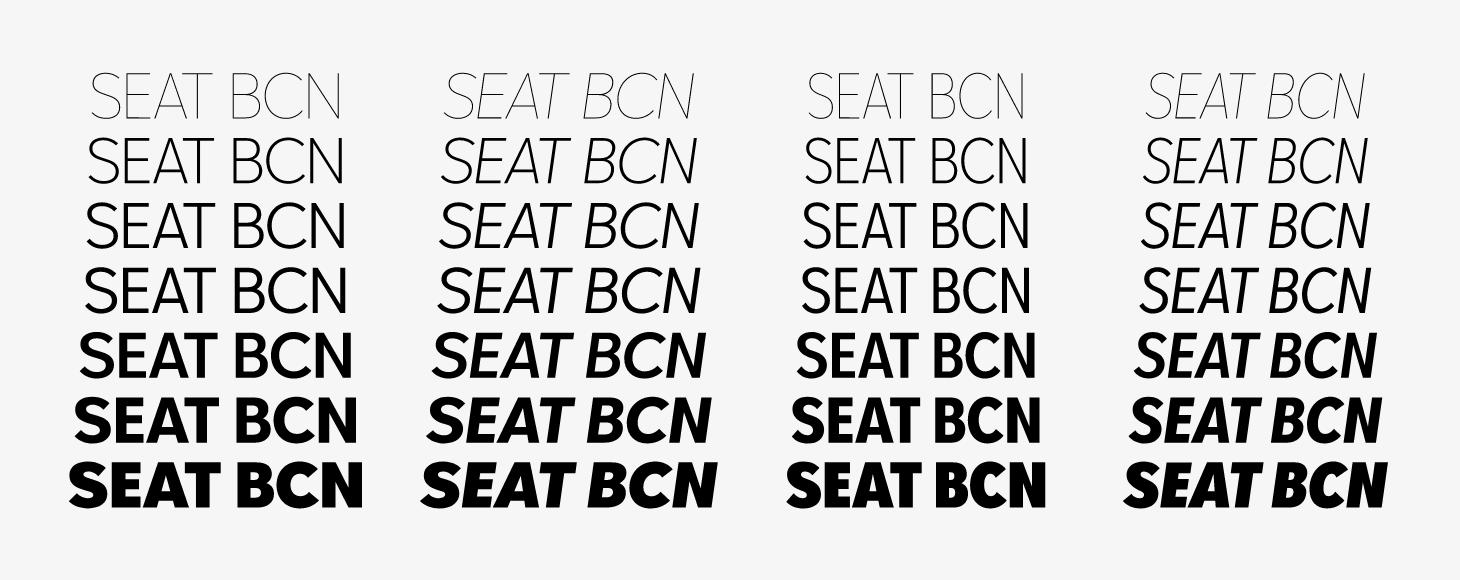 Tipografía de SEAT