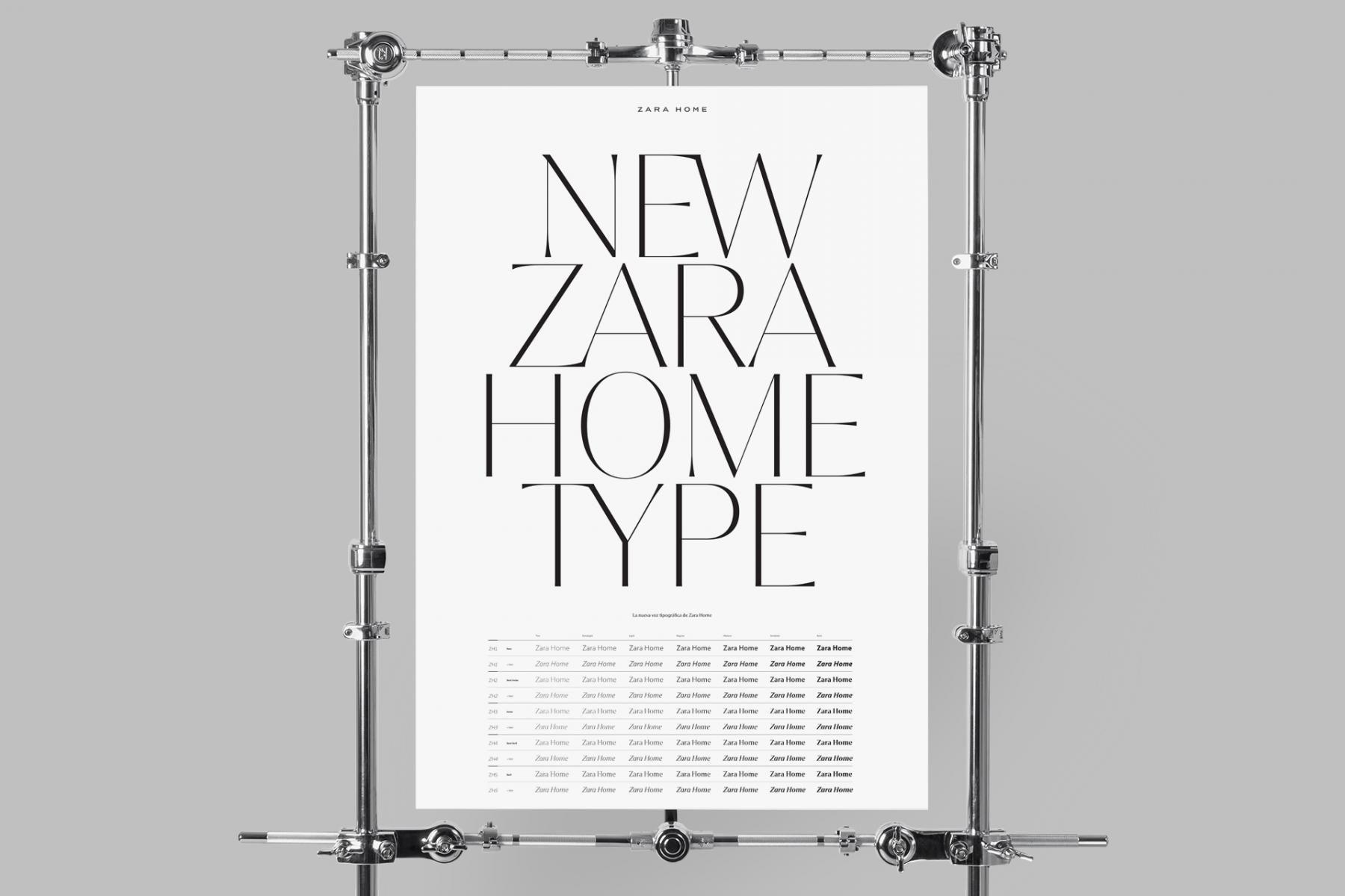 Tipografía de ZARA HOME