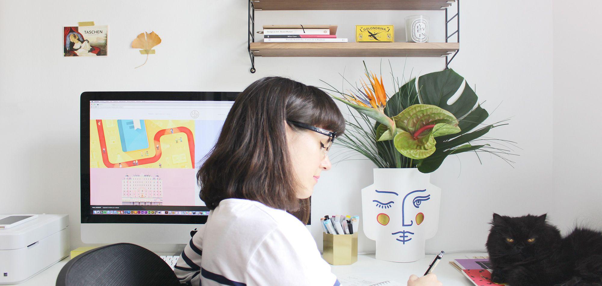 Lorena G en su estudio