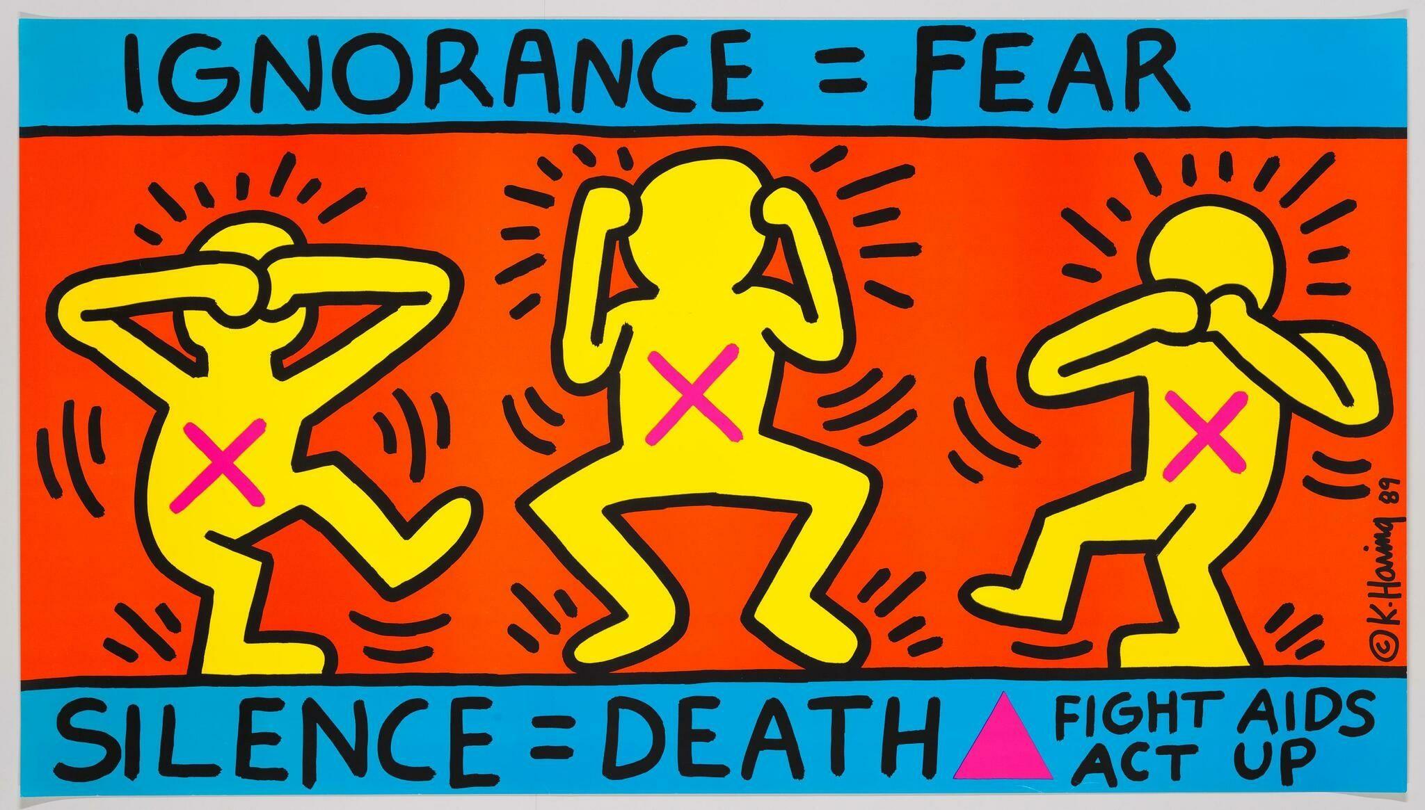 Ignorance = Fear, de Keith Haring. Imagen de Whitneymedia