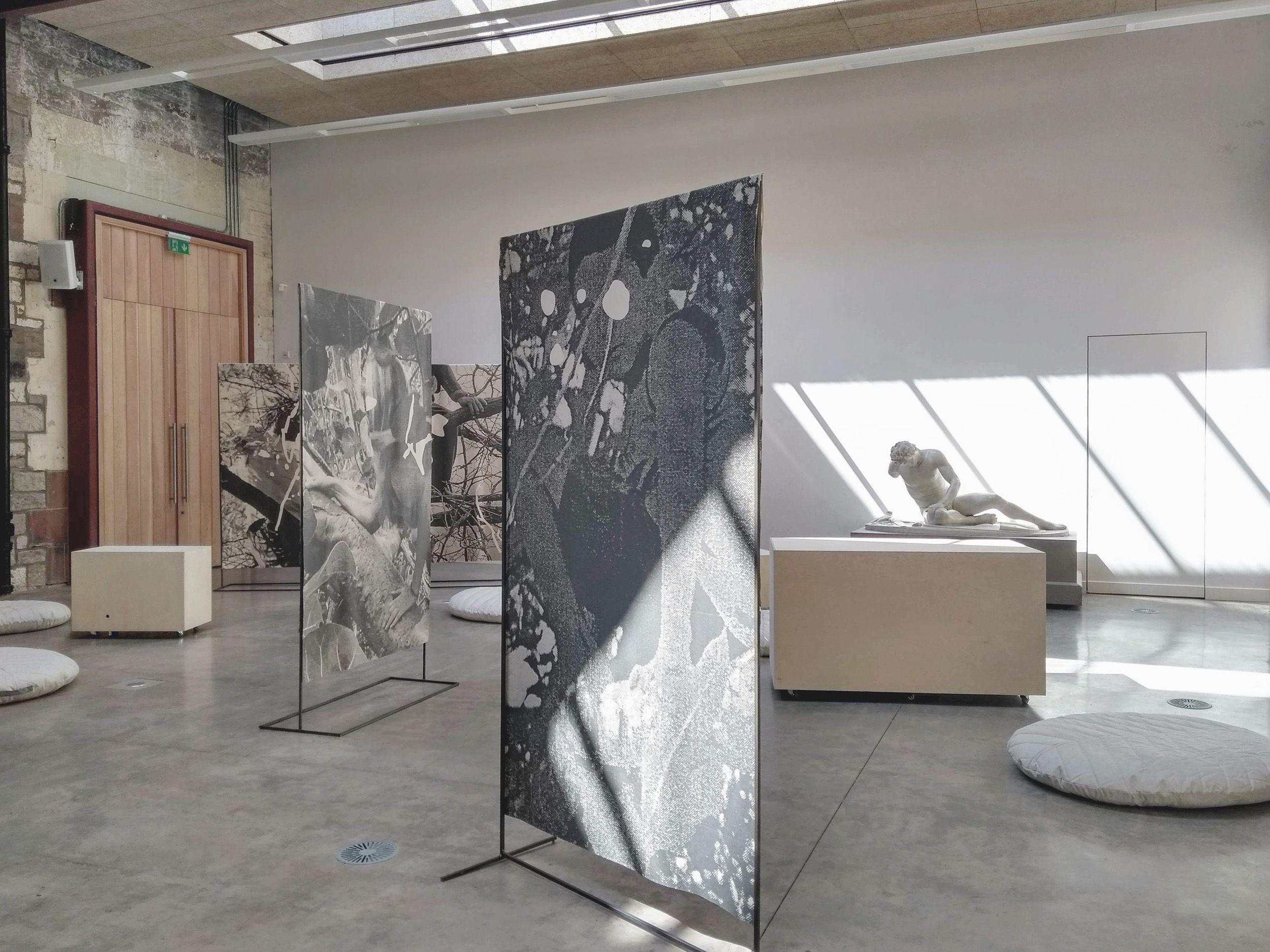Sonikebana version 2, public installation, West Court Edinburgh, August 2019, image by Anna Chapman Parker
