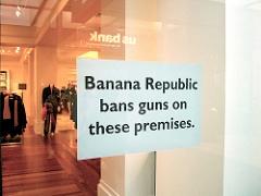 Banana Republic Bans Guns