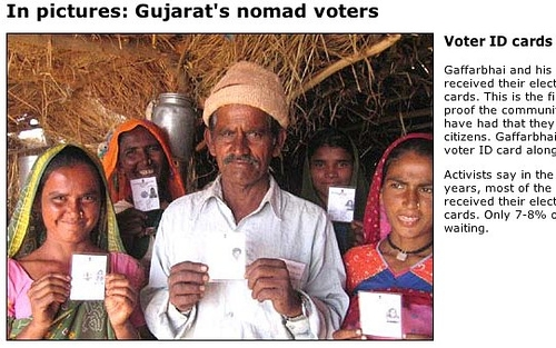 BBC NEWS | In pictures: Gujarat's nomad voters
