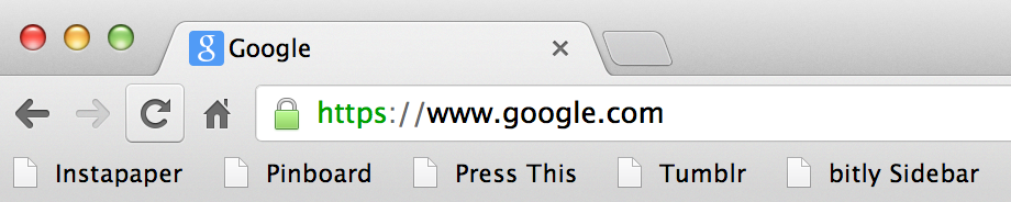 Chrome Bookmarks Bar
