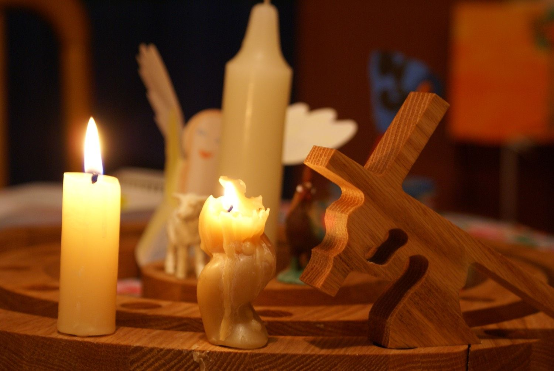 Lent candles