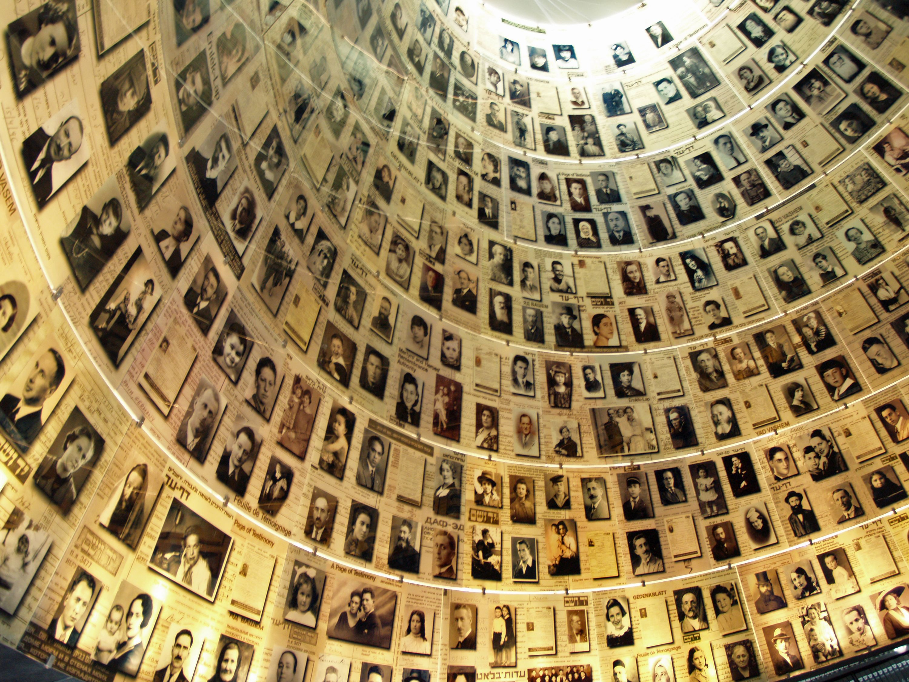 Yad Vashem Hall of Names by David Shankbone - Wikimedia Commons