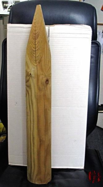 A big wooden stake
