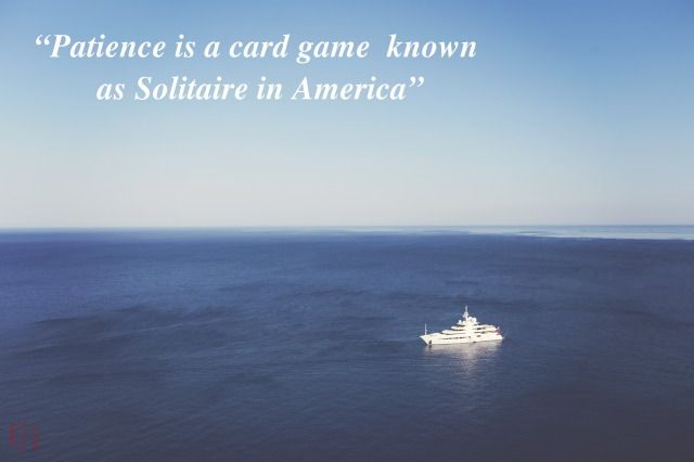 Patience is a card game known as solitaire in America