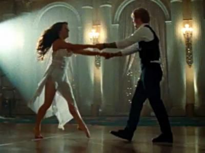 Ed Sheeran dancing with a young lady