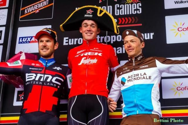 Winner of l'Eurométropole in a funny hat