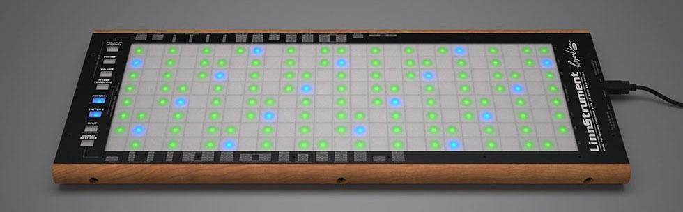 A grid like Linnstrument laid on a table.