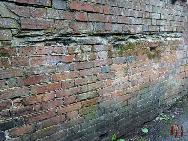 An interesting old brick wall with part filled in with slates, if you like that sort of thing