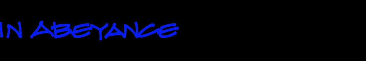 In Abeyance Logo