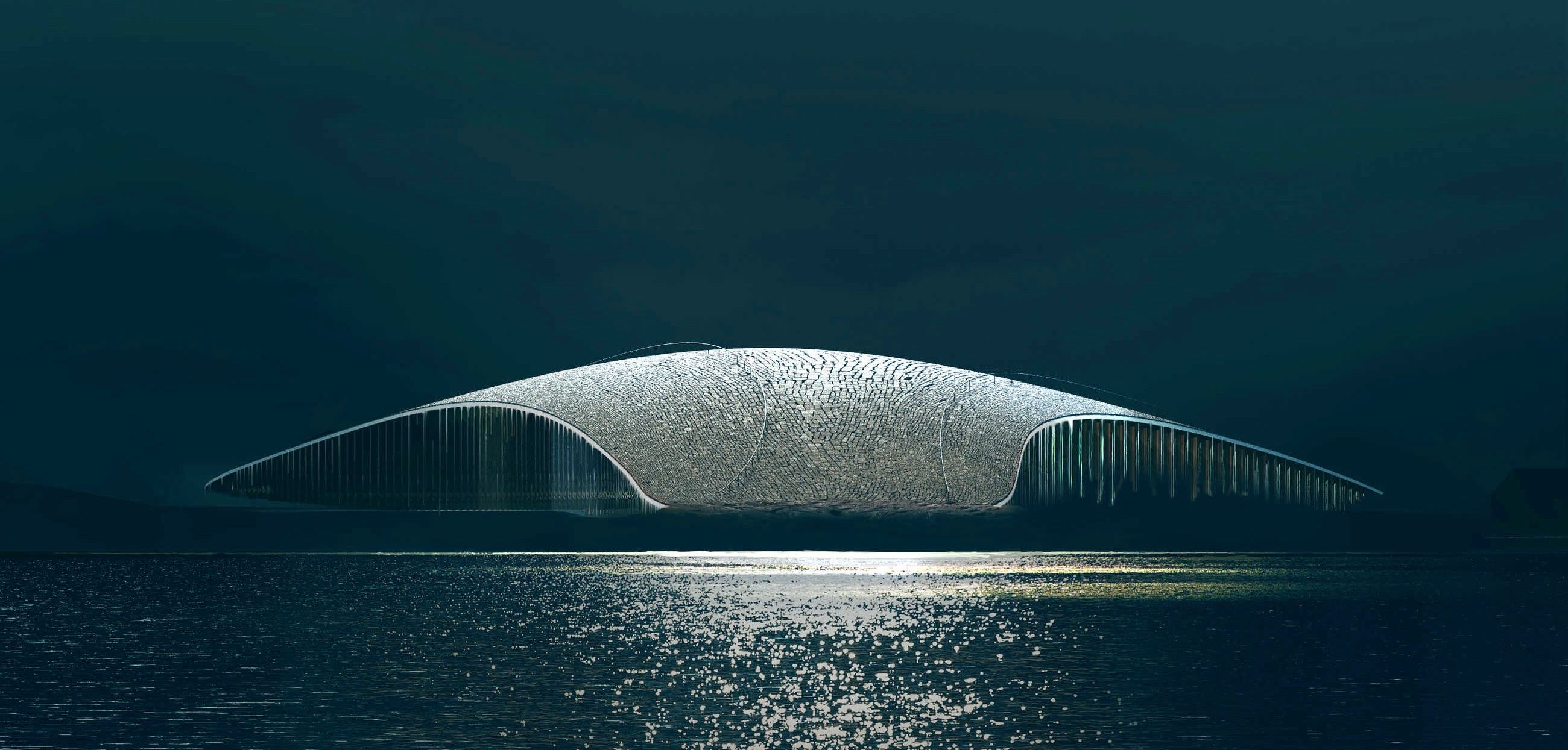 Rendering of the Whale Building