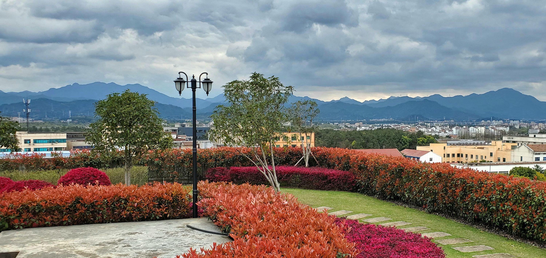rooftop garden view in yongkang, zhejiang
