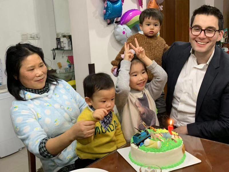 三阿姨,bobby, hanhan, eli, max - bobby's 2nd bday party