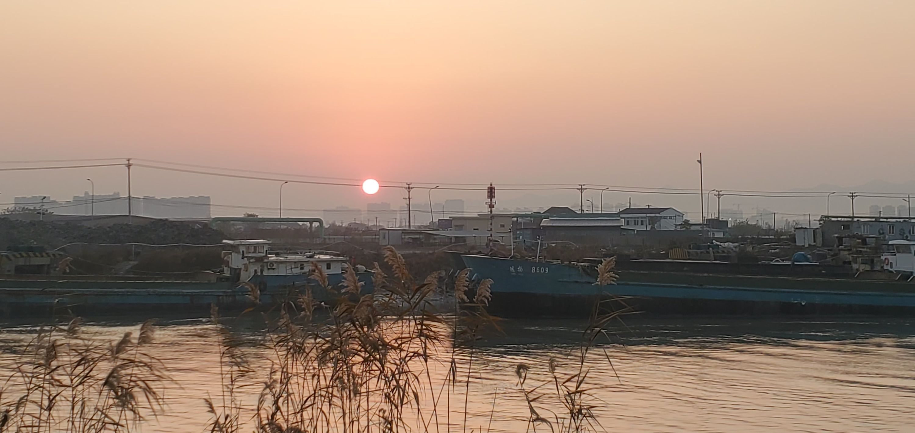 sunrise during 9k run - ningbo