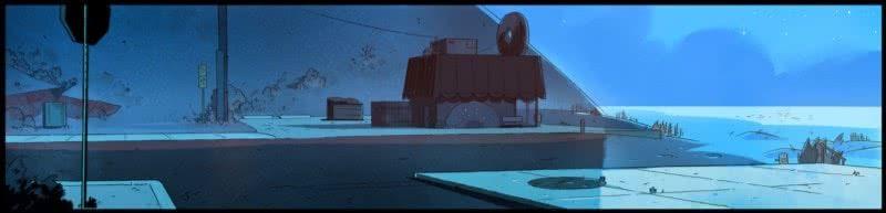 Credit, Steven Sugar, background artist for Steven Universe