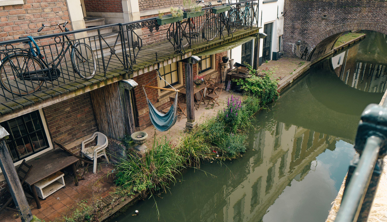 sunken canal terrace