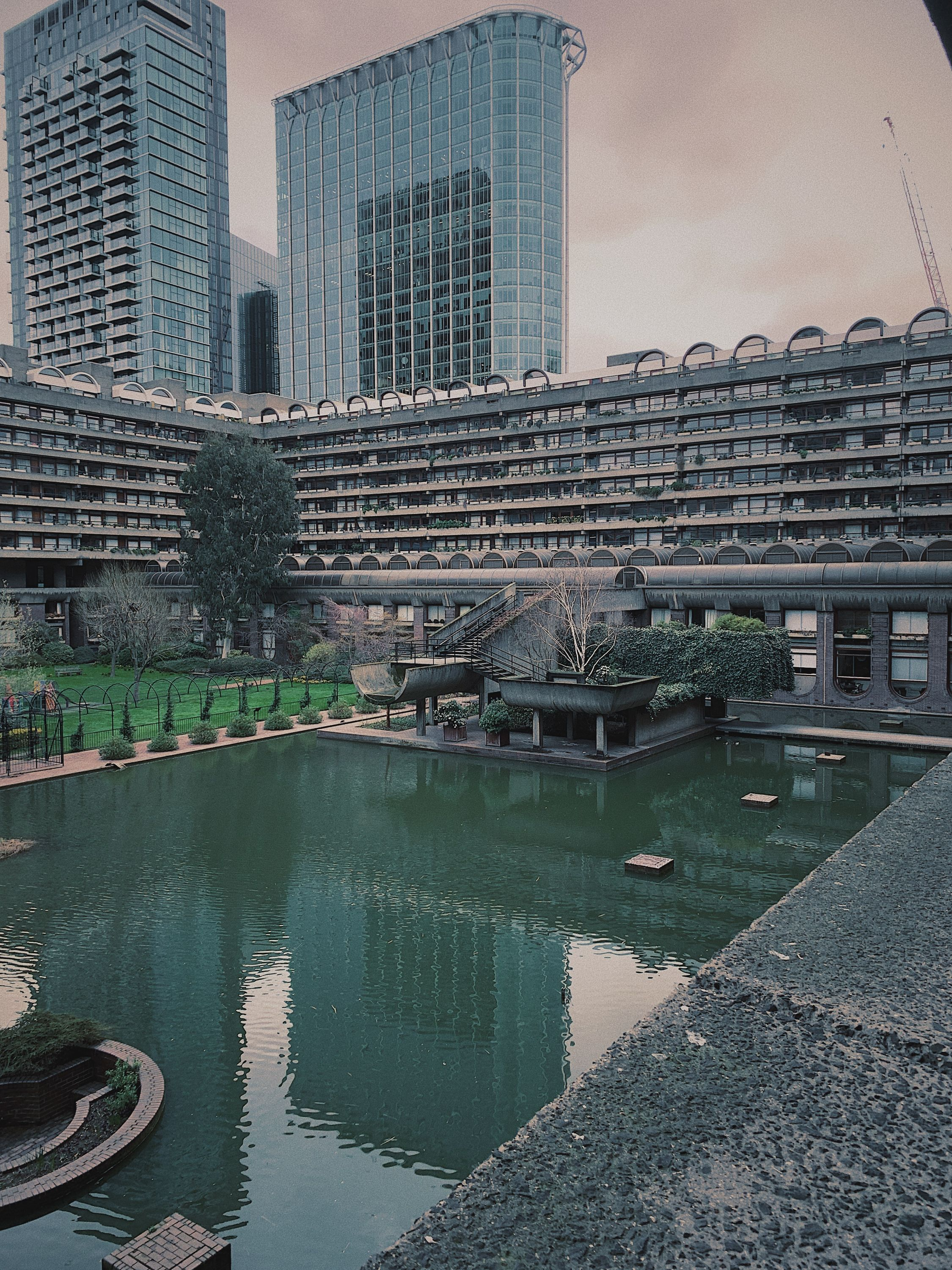 early morning at the barbican