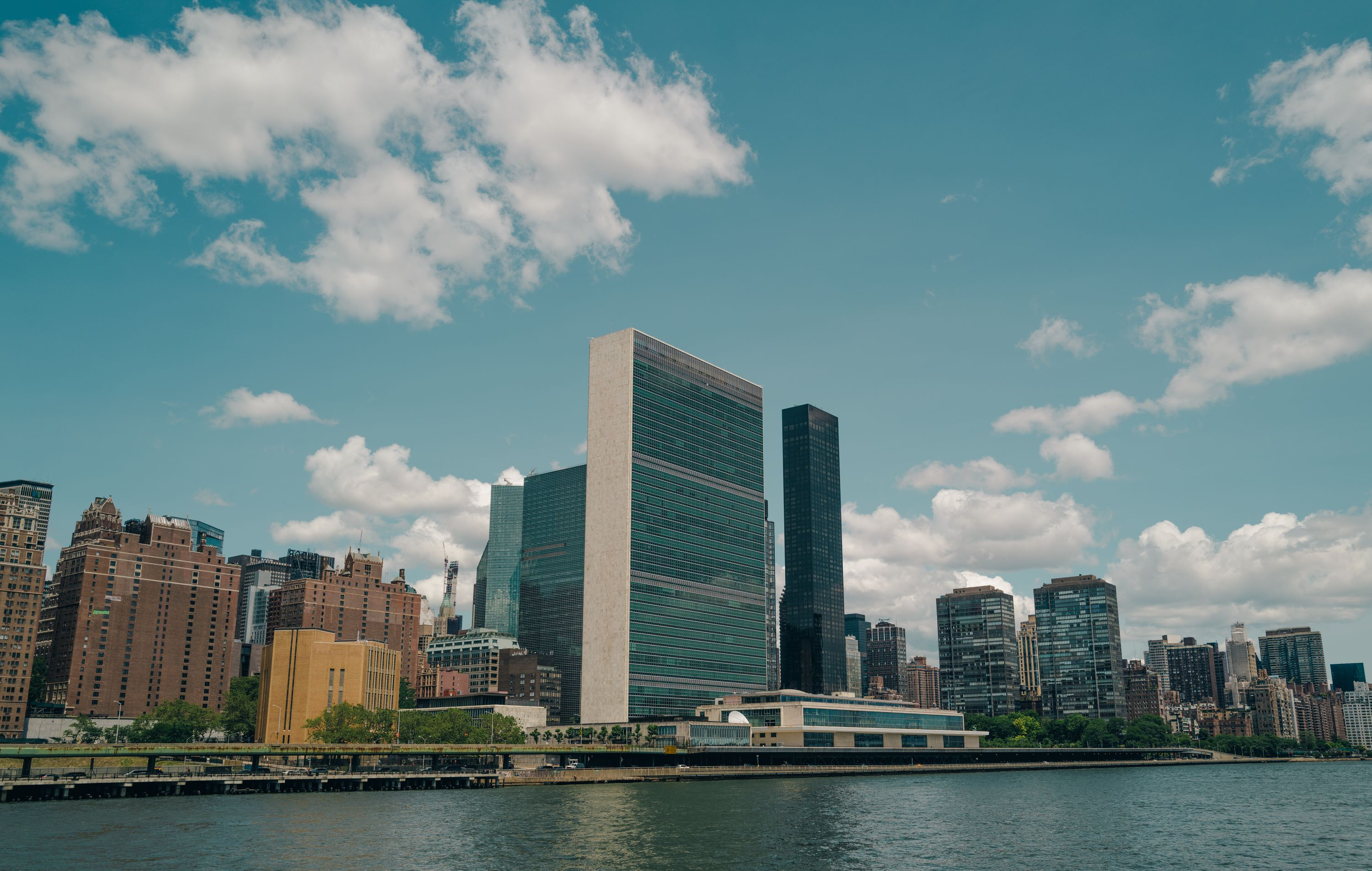 un building from the east river