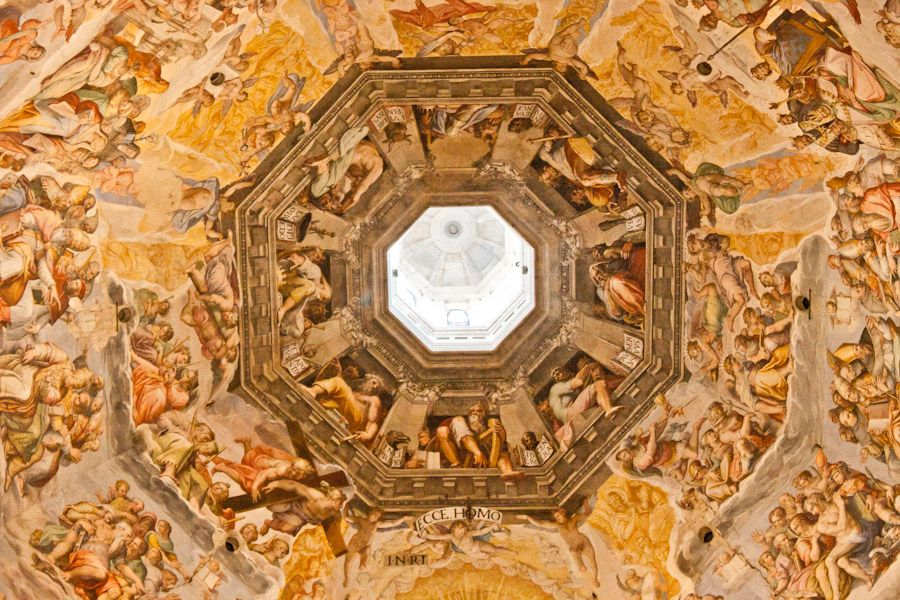 The fresco painted on the dome