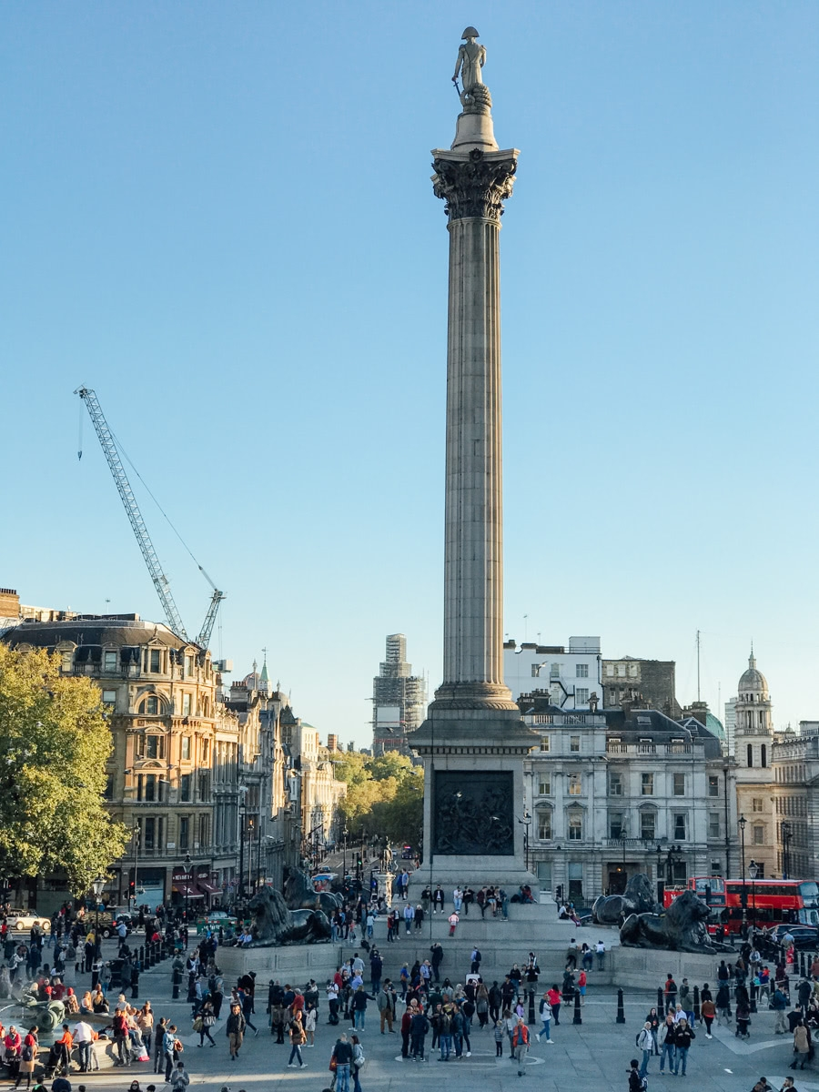 Nelson's Column and Trafalgar Square