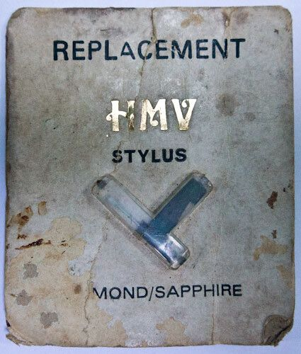 The old gramaphone stylus