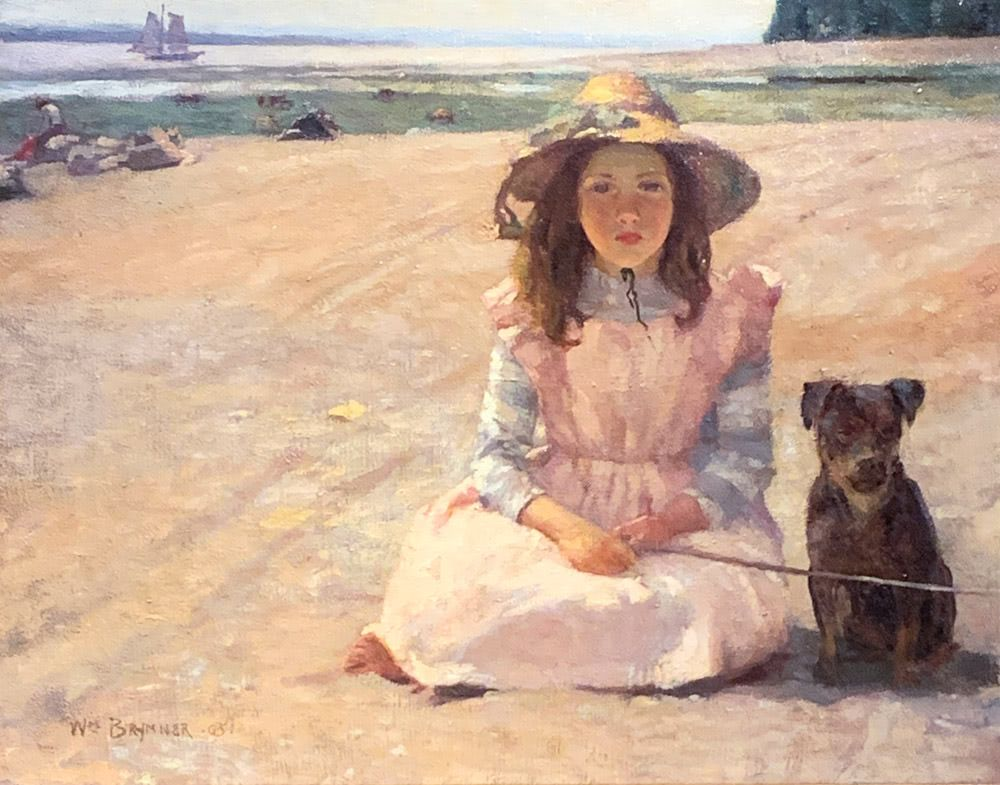 William Brymner: The Girl and The Dog