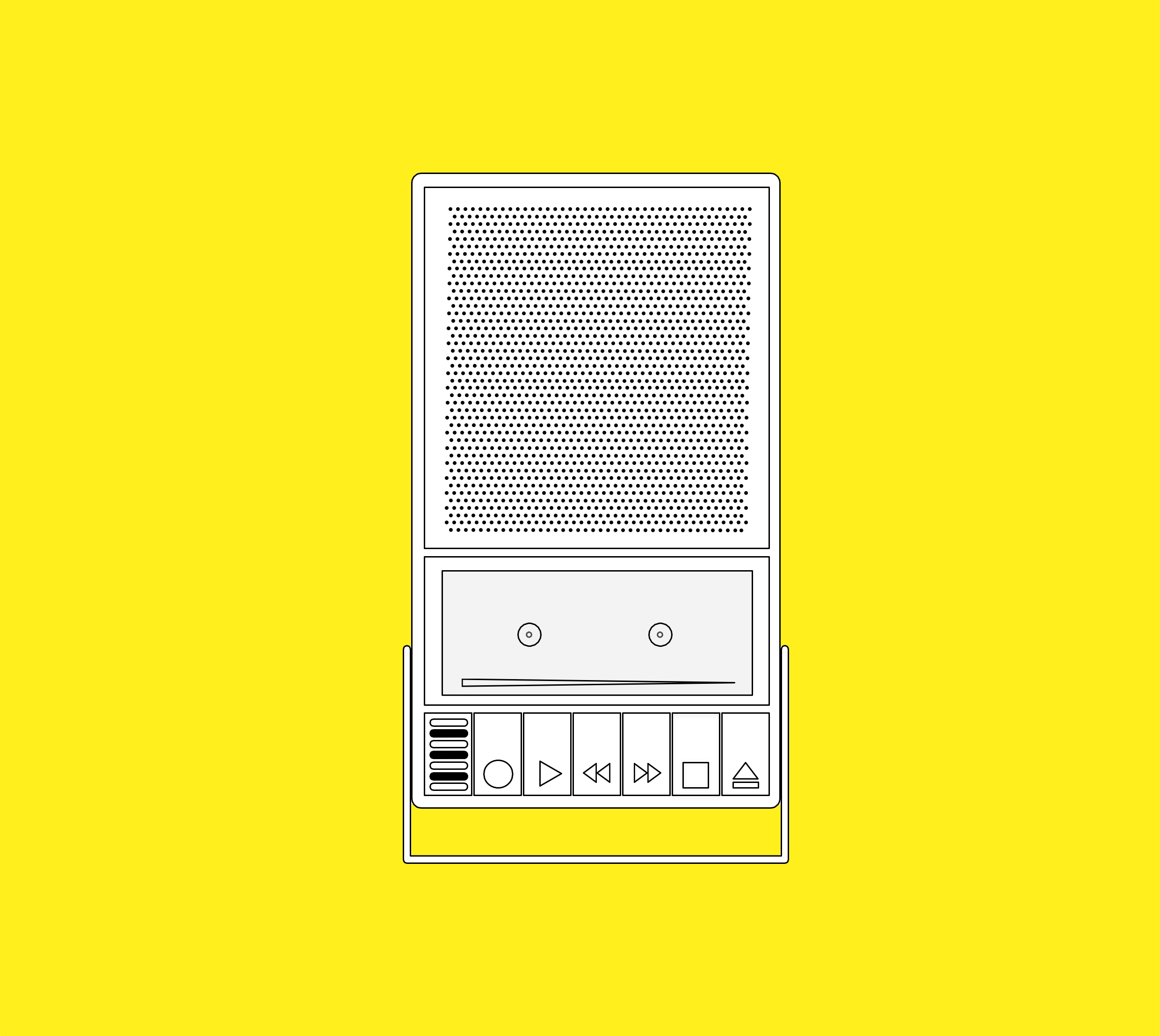 Illustration: the old cassette player