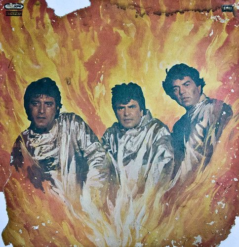 The burning train inset - in which they look like their sons